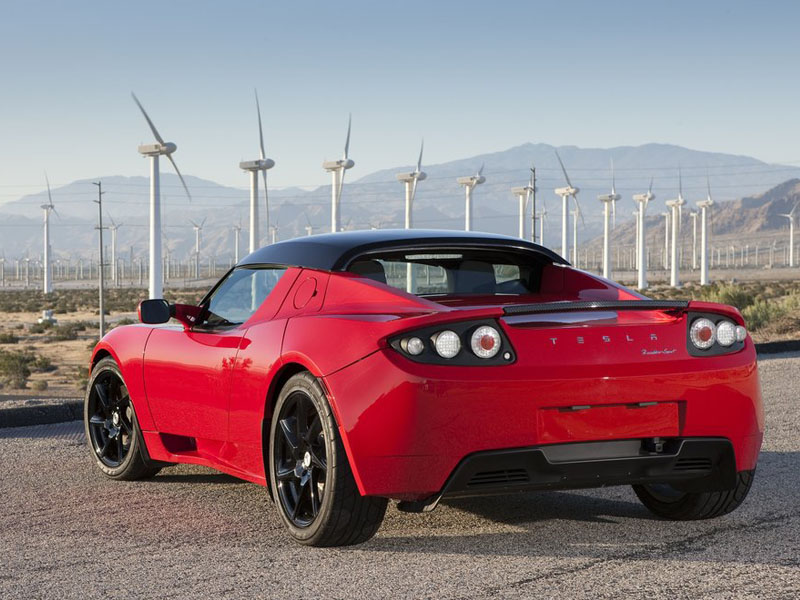 2014 tesla roadster exterior red