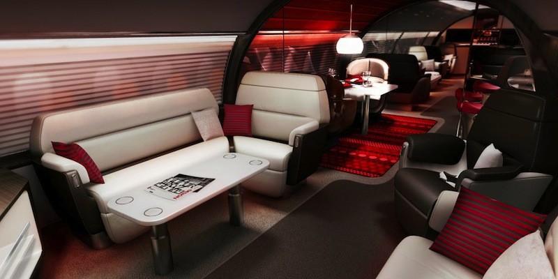 ABJ red luxury plane planes 2015