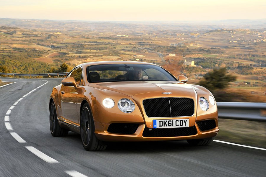 Bentley Continental GT V8 gold luxury