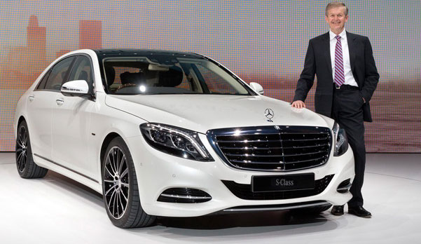 mercedes s class sedan luxury white