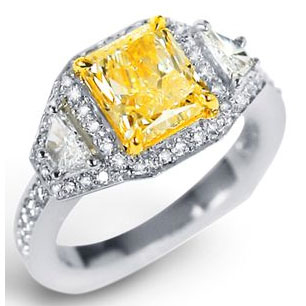 yellow diamond ring luxury