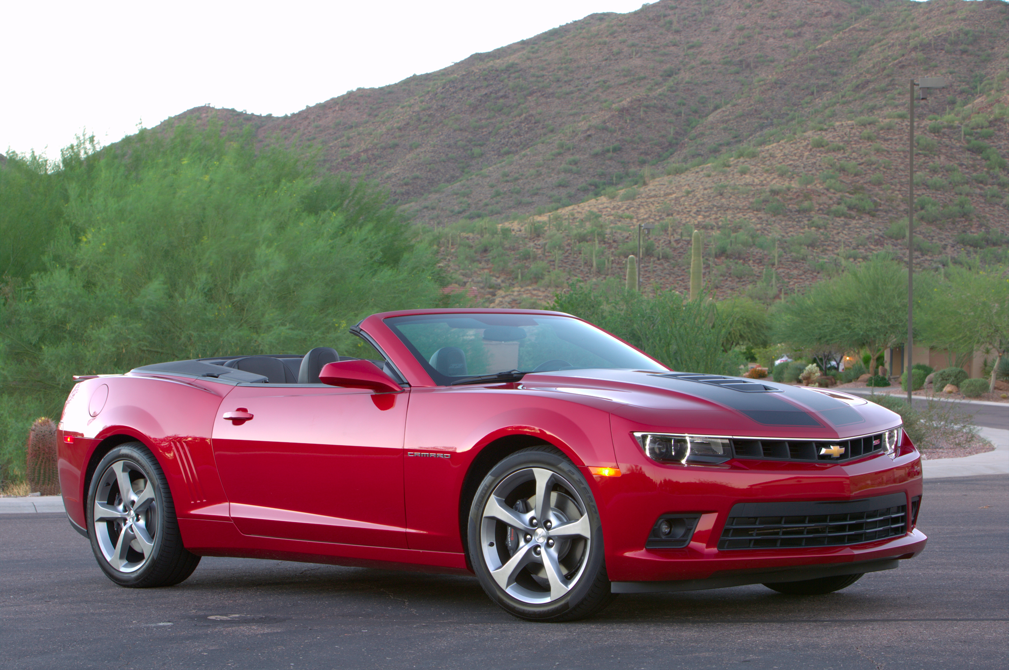 2015 chevrolet camaro convertible red