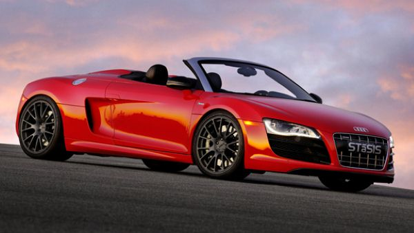 Audi R8 convertible red R8