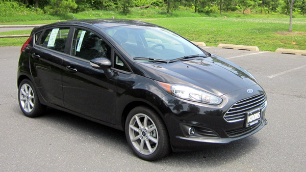 black Ford Fiesta 2015 st sedan hatchback