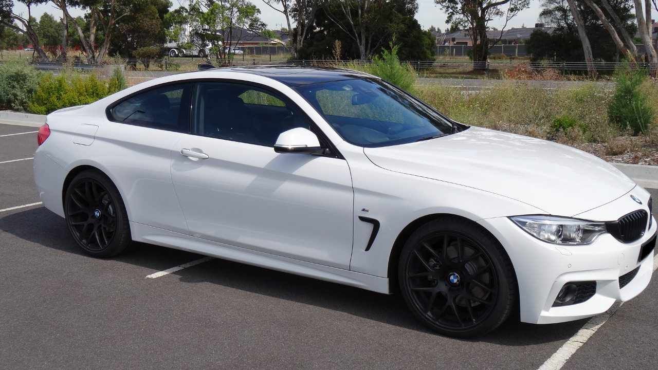 white BMW 428i Convertible