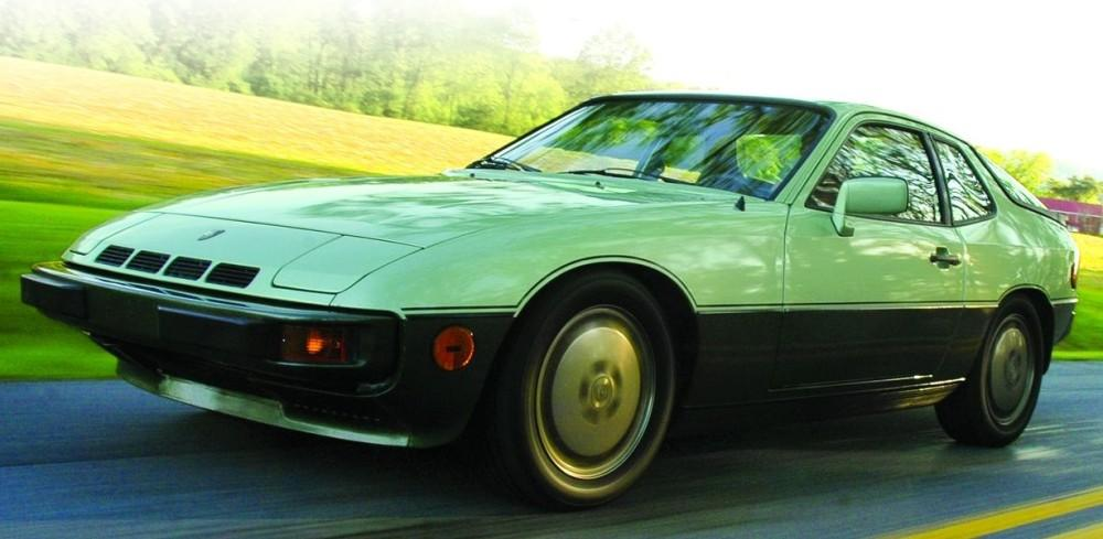 green Porsche 924 photos