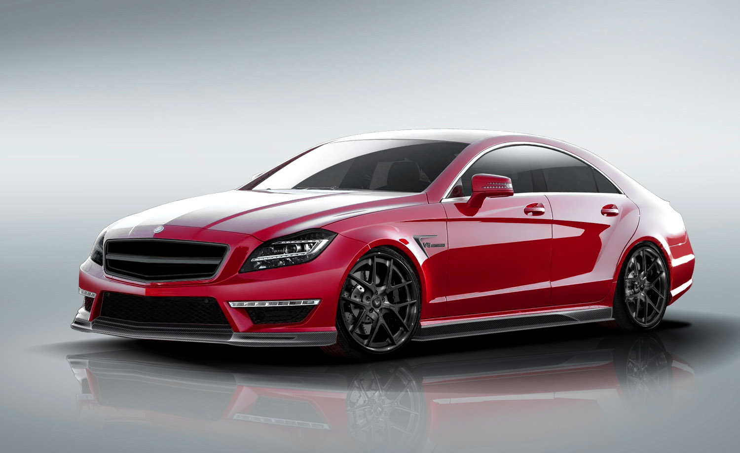 2016 MERCEDES BENZ CLS63 red