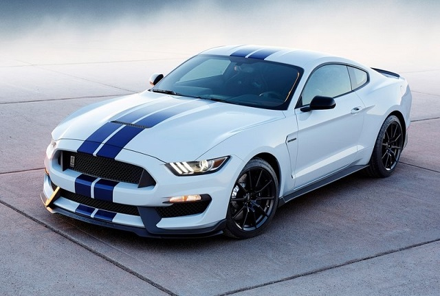 2016 white blue Ford Mustang Shelby GT500