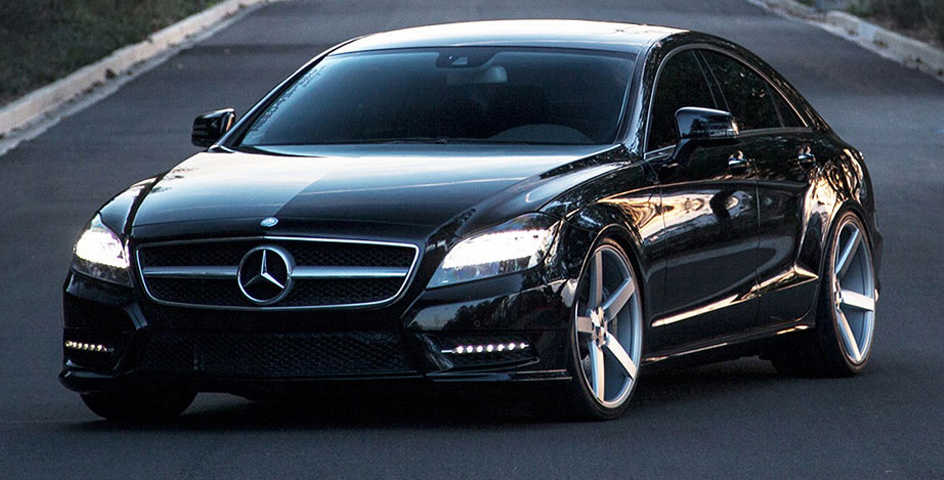 black mercedes vossen 2016